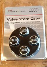 Genuine Audi Accessory Carbon Fiber Tire Valve Stem Caps - FITS ALL MODELS