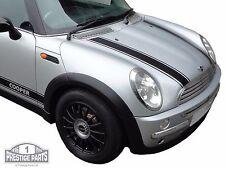 ORIGINALE 3m in vinile nero strisce da COFANO per Mini Cooper r50-Alta Qualità Decalcomanie