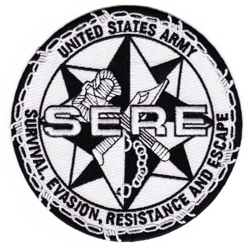 US ARMY SERE SCHOOL PATCH SURVIVAL EVASION RESISTANCE AND ESCAPE RUCKER BRAGG