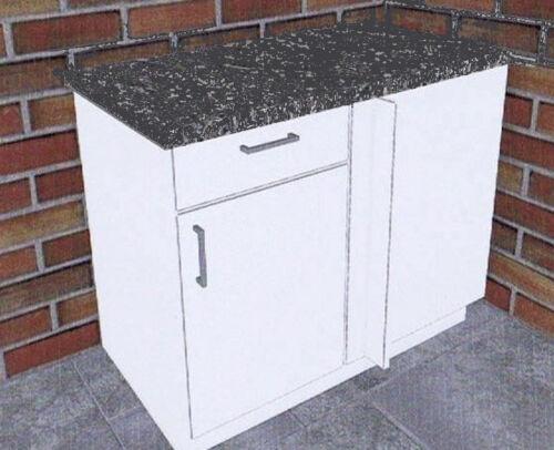 Arbeitspl. Eck-Unterschrank FAVORIT 1 weiß 110cm Küche Mehrzweck Unterschrank m