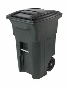 64 Gallon Residential Curbside Trash Can Cart Rolling