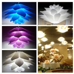Pendentif-50-cm-Lotus-Lustre-IQ-Puzzle-Jigsaw-Abat-jour-Abat-Jour-Decoration