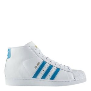 NEW MEN 'S ADIDAS ORIGINALS PRO MODEL SHOES  [CQ0627]  WHITE//MYSTERY PETROL
