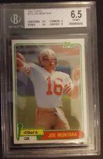 Topps 1981 Joe Montana San Francisco 49ers Rc 216 Football Card