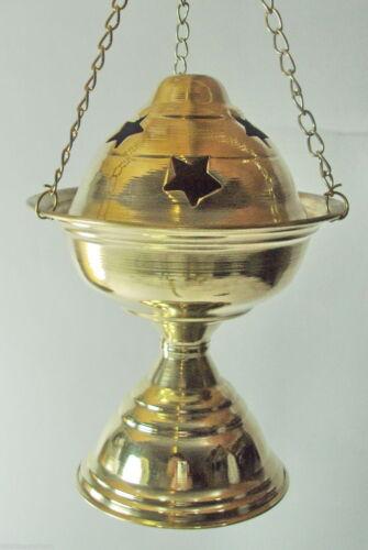 "Hanging /& Standing Egyptian Hand Made Brass Incense Resin Burner Holder 5.5/"""