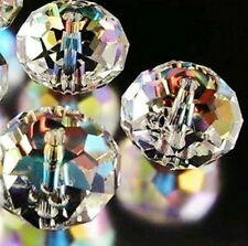10mm Clear Swarovski Crystal Gem Beads AB+ 70Pcs