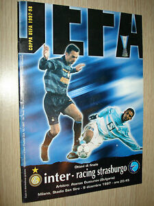 MATCH-PROGRAM-COPPA-UEFA-1997-98-ENTRE-CARRERAS-STRASBOURG-9-12-1997