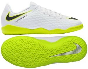 online store 762db 63983 Details about Juniors Boys Nike Hypervenom 3 Academy IC AJ3798 107 Indoor  Boots White/Volt