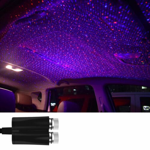 USB Car Interior LED Light Roof Atmosphere Starry Sky Lamp Star Projector Bulbs