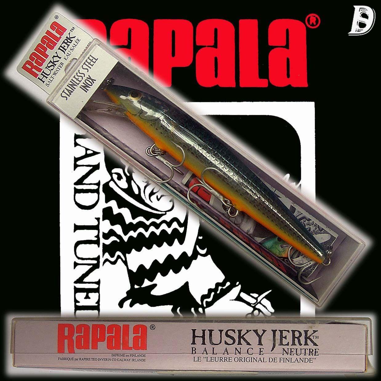 Vintage Rapala Saltwater Husky Jerk 12cm SSBMU Irland, Neu in Box sehr selten