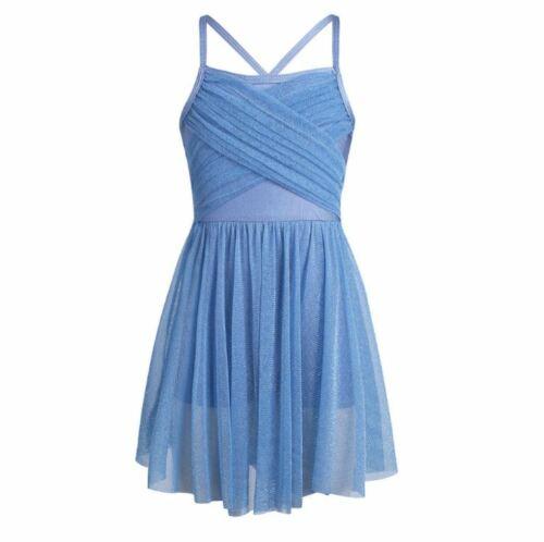 New Ballerina Gymnastics Girls Leotard Dress Ballet Dancewear Party Kids Clothes