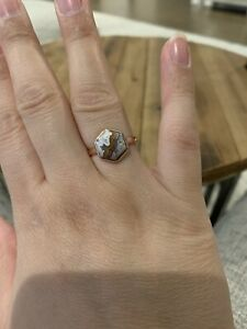 Coffee-Agate-Rose-Gold-Ring-Size-7-75-Plated