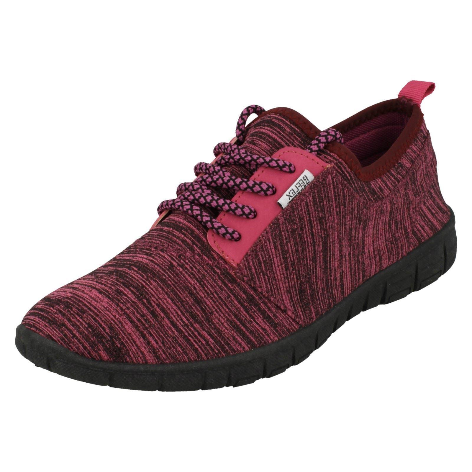 Reflex F7049 Femmes Violet Léger à Lacets Chaussures Course