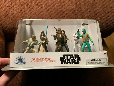NEW Disney Store STAR WARS Toy Figurines Cake Toppers Figures Playset Set Of 6
