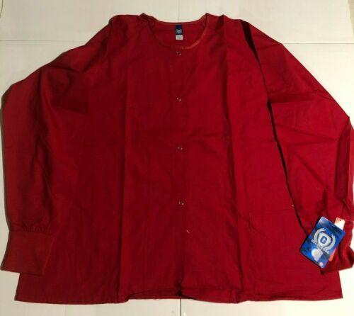 Scrub Jacket GelScrubs Red Scrub Jacket Size 2XL Unisex