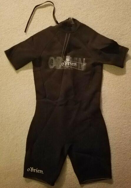 O'Brien Black Wet Suit Diving Scuba Mens L Short Jetski