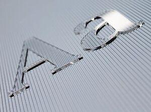 3d Plexiglas Buchstaben 3mm Transparent Acrylglas Hausnummer Beschriftung Ebay