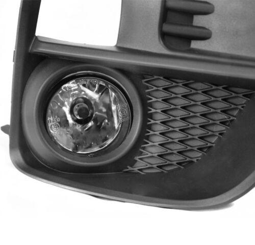 15-17 SUBARU IMPREZA WRX STI BUMPER FOG LIGHT LAMP CHROME W//10K HID+BEZEL+SWITCH