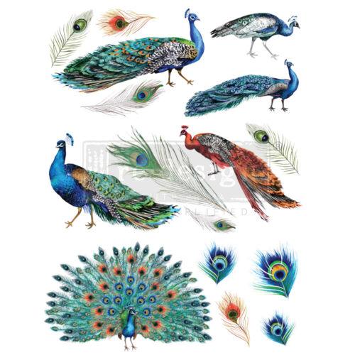 """Prima Redesign Peacock Dreams Transfer 24/"""" x 35/"""" #645090"""