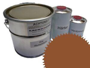 3 Liter Set 2K Floor Coating Ral 8001 Ochre Shine Floor Color Workshop