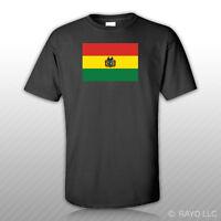 Bolivian Flag T-shirt Tee Shirt Free Sticker Bolivia Bol Bo
