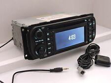 RB1 Nav Radio, AUX Input & GREEN Backlighting w/Sat Antenna, Chrysler/Dodge/Jeep