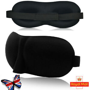 Eye Mask 3D Silk Travel Beauty Sleep Bedtime Sponge Cover Blindfold Blinder UK