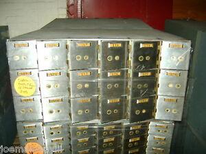 BANK SAFE SAFETY DEPOSIT BOX 18 BOXES PER CABINET