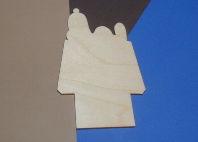 Snoopy Dog House Unfinished Wood Shape Cut Out BDH172 Lindahl Woodcrafts