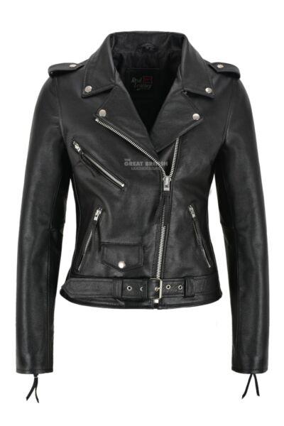 Femmes Motard Veste En Cuir Noir Vachette Cuir Femme Perfecto Classique Veste Les Produits Sont Vendus Sans Limitations