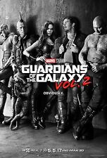 Guardians of the Galaxy Vol 2 Movie Poster (24x36) - Chris Pratt, Star Lord v2