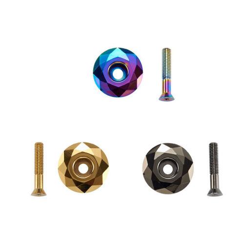 """KRSEC Bike Top Cap 1-1//8/"""" Titanium-plated AL For MTB//Road Bicycle Headset//Stem"""