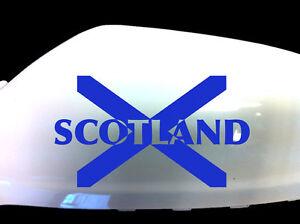 Scotland Scottish Flag Car Sticker Wing Mirror Styling Decals (Set of 2), Blue