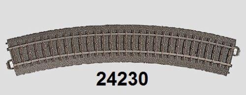 30° Märklin H0 24230 C-Gleis gebogen R2 = 437,5 mm NEU
