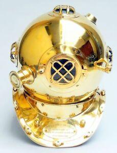 US Navy Mark V Scuba Divers Diving Helmet Full Brass Marine Replica Collectible