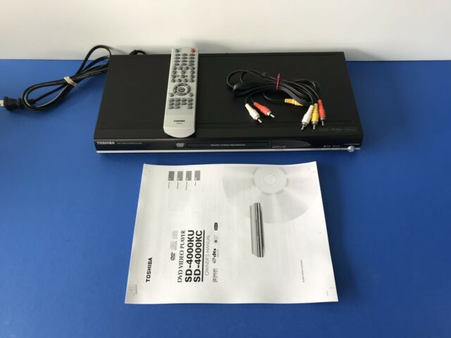 Toshiba DVD Player Remote Batteries Cables and Manual Tested Toshiba SD-4000