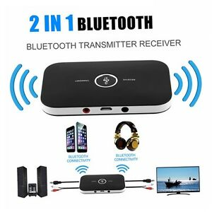 2in1 3 5mm wireless bluetooth empf nger sender adapter musik aux audio receiver ebay. Black Bedroom Furniture Sets. Home Design Ideas