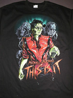 MICHAEL JACKSON - THRILLER THIS IS IT ZOMBIE Concert T-Shirt :)
