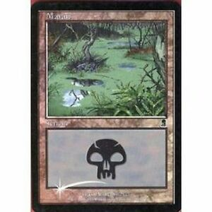 Lot-de-10-marais-PREMIUM-FOIL-Swamp-Swamps-Terrain-Lands-Magic-Mtg