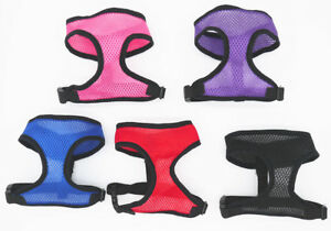 Dog-Puppy-PET-HARNESS-Adjustable-Soft-Comfortable-Breathable-Fabric-Mesh-Safety