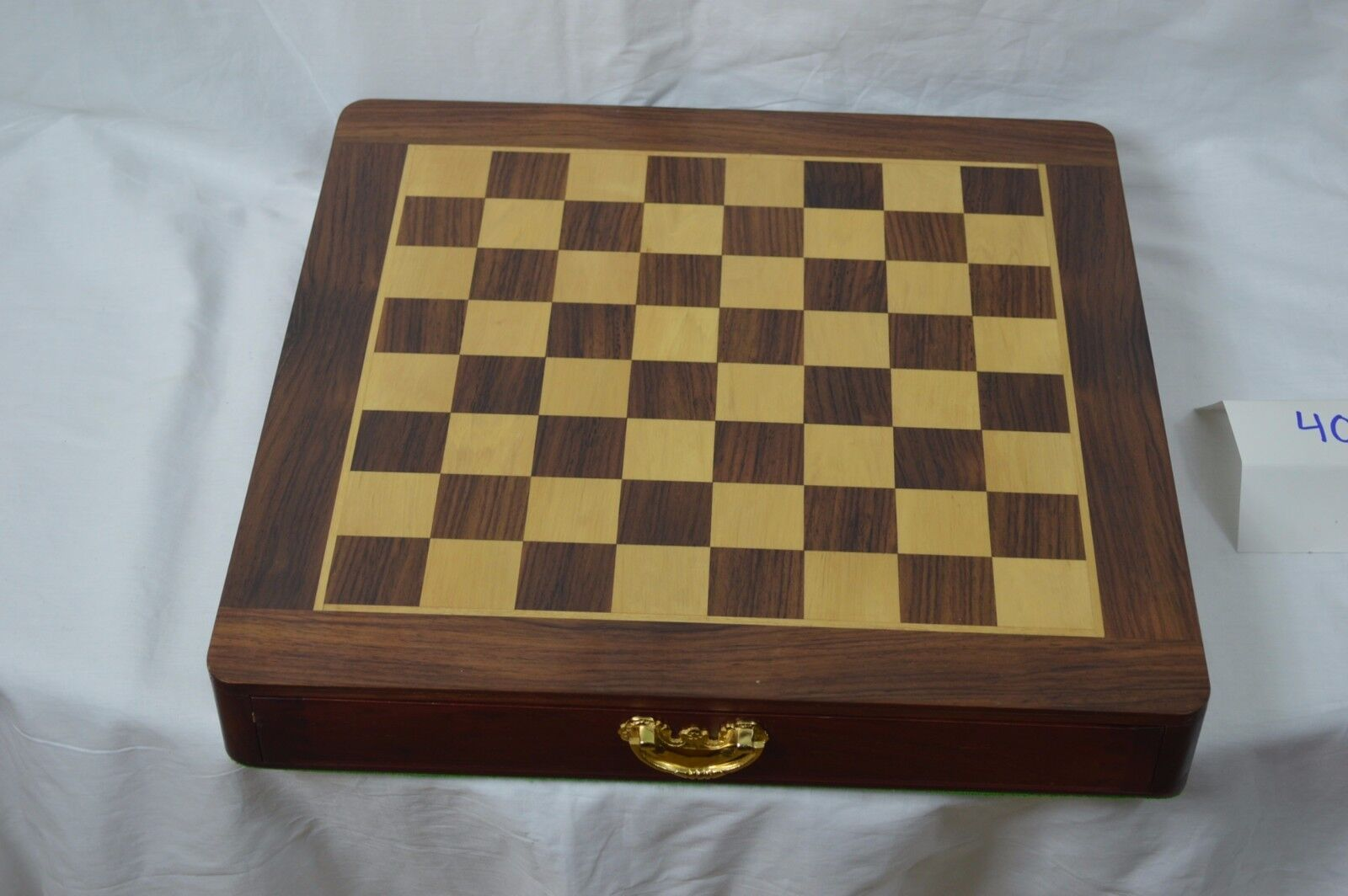 Bellissimo Hand Crafted Wooden Chess Set Box with Felt bottom