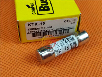 60 Bussmann KTK-15 15 Amp Limitron Fast Acting Supplementary Fuse Melamine Tube