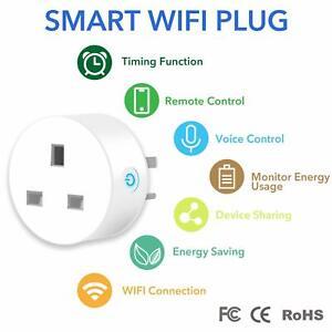 Interruptor-de-temporizador-de-vida-inteligente-WIFI-Socket-3-Pin-Enchufe-de-Reino-Unido-FCC