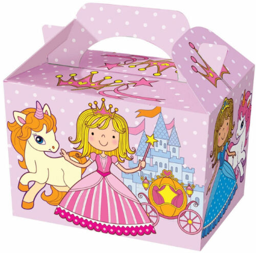 Food Loot Lunch Cardboard Gift Kids 20 Princess Party Boxes