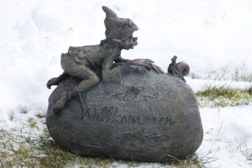 pixie,kobold,wicht,26x25cm,eichhörnchen,wichtel,waldgeister,garten,wetterfest,