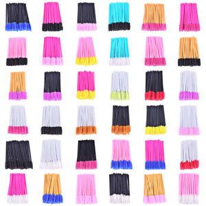 New-50Pcs-Silicone-Head-Disposable-Mascara-Wands-Eyelash-Brushes-LashExtentionDD