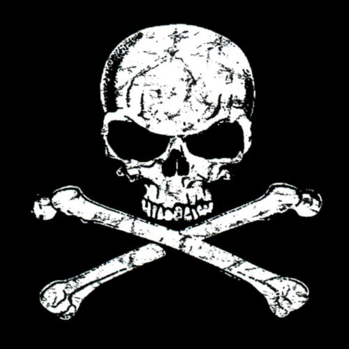 * Heavy Metal Piraten Totenkopf Punk Rock Skull Bones Gothic T-Shirt *4085