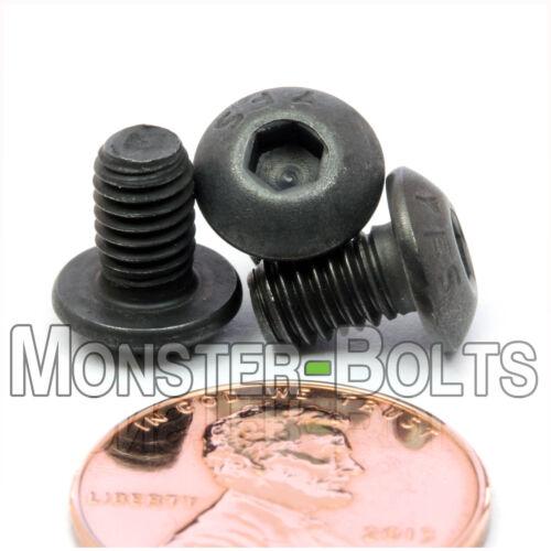 "Qty 10 #10-32 x 5//16/"" BUTTON HEAD Socket Cap Screws  Alloy Steel Black Oxide"