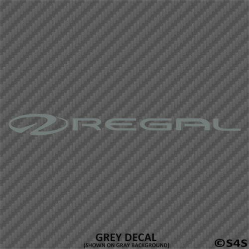 Choose Color Regal Boats Car//Truck Decal Outdoors Sports /& Boating V2