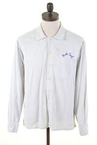 NORTH-SAILS-Mens-Shirt-XL-White-Striped-Cotton-FK08